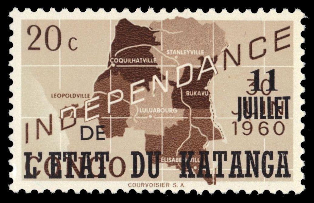 Katanga 1960 Postage Stamps from Congo Overprinted