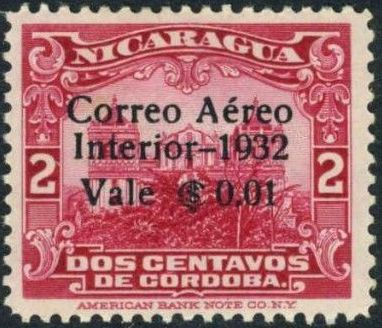 Nicaragua 1932 Stamps of 1914-1932 Surcharged in Black