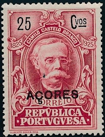 Azores 1925 Birth Centenary of Camilo Castelo Branco k.jpg