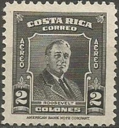 Costa Rica 1947 Franklin D. Roosevelt - Air Post Stamps g.jpg