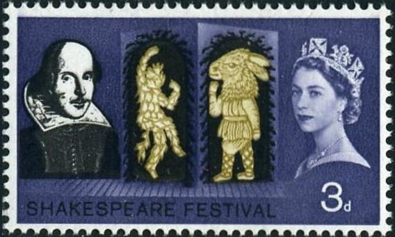 Great Britain 1964 400th Anniversary of the Birth of William Shakespeare a.jpg