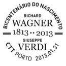 Portugal 2013 Bicentenary of the birth of R. Wagner and Giuseppe Verdi PMb.jpg
