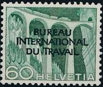 Switzerland 1950 Landscapes and Technology Official Stamps for The International Labor Bureau j.jpg