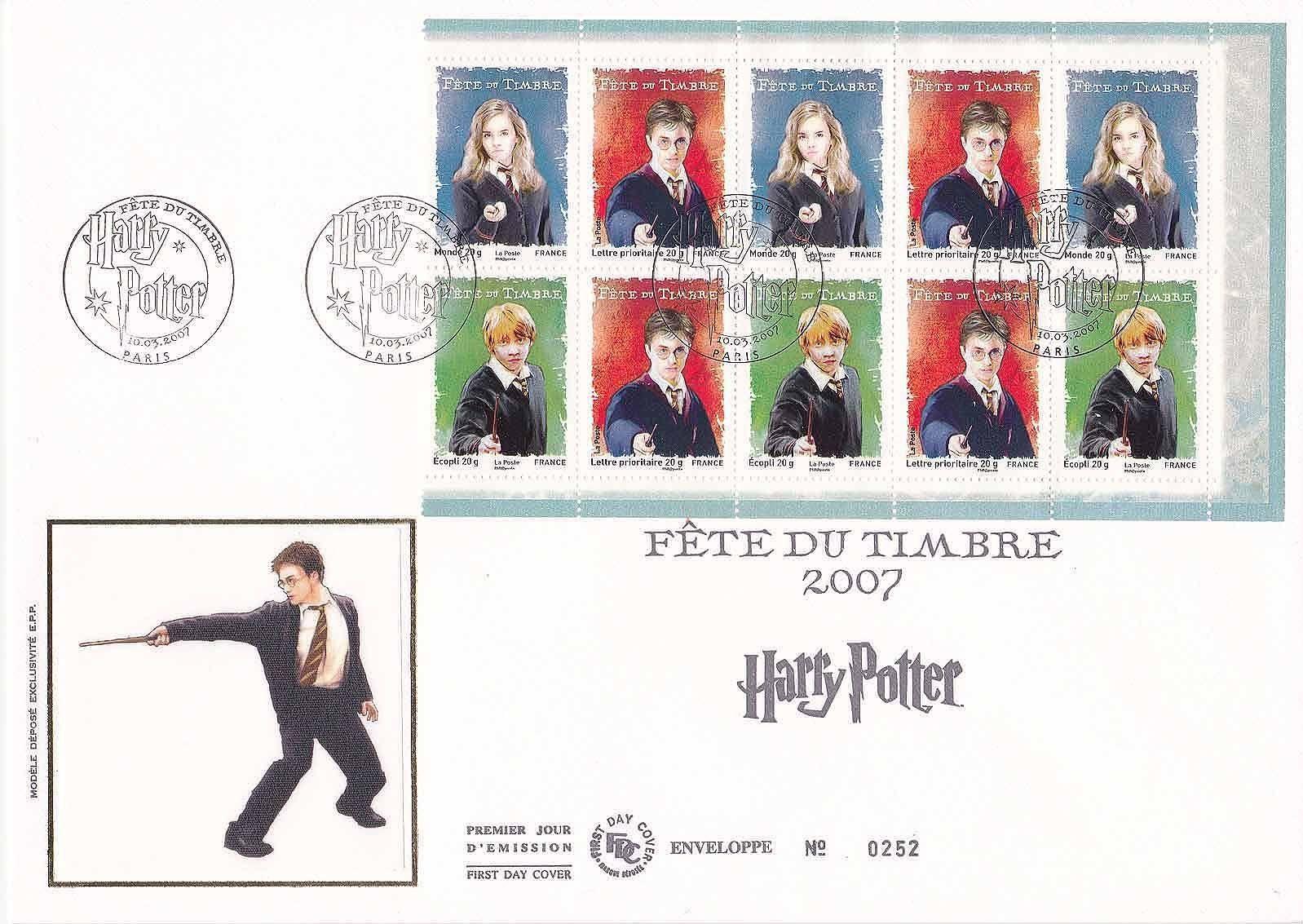 France 2007 Stamp Day - Harry Potter