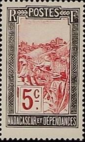 Madagascar 1922 Transportation by Sedan Chair