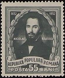 Romania 1952 Death Centenary of Nicolae Balcescu