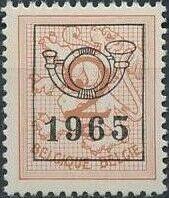 Belgium 1965 Heraldic Lion with Precancellations