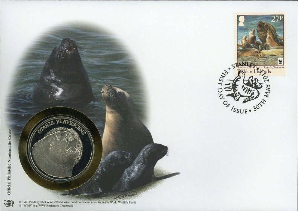 Falkland Islands 2011 WWF - The Southern Sealion FDCf.jpg