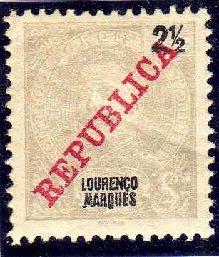 Lourenço Marques 1911 D. Carlos I Overprinted