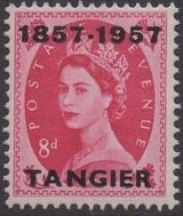 British Offices in Tangier 1957 Centenary Overprint (1857-1957) k.jpg