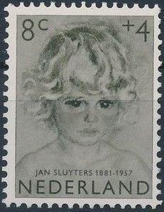 Netherlands 1957 Child Welfare Surtax - Girls' Portraits c.jpg