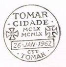 Portugal 1962 800th Anniversary of Tomar City PMc.jpg