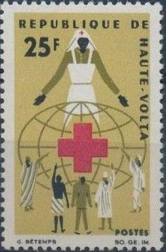 Upper Volta 1966 Red Cross