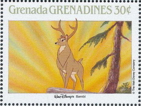 Grenada Grenadines 1988 The Disney Animal Stories in Postage Stamps 1i.jpg