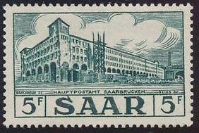 Saar 1954 Definitives - Main Post Office, Saarbrücken