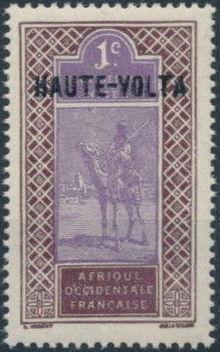 Upper Volta 1920 Stamps of Upper Senegal and Niger, Overprinted