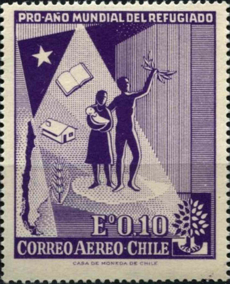 Chile 1960 World Refugee Day - Air Post Stamps