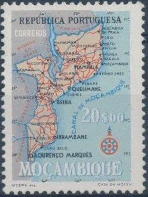 Mozambique 1954 Map of Mozambique h.jpg