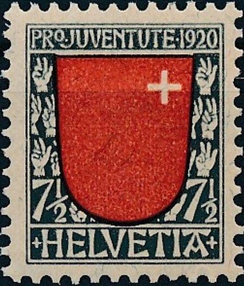 Switzerland 1920 PRO JUVENTUTE - Coat of Arms