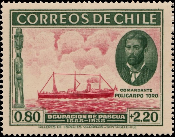 Chile 1940 50th Anniversary of Chilean Ownership of Easter Island