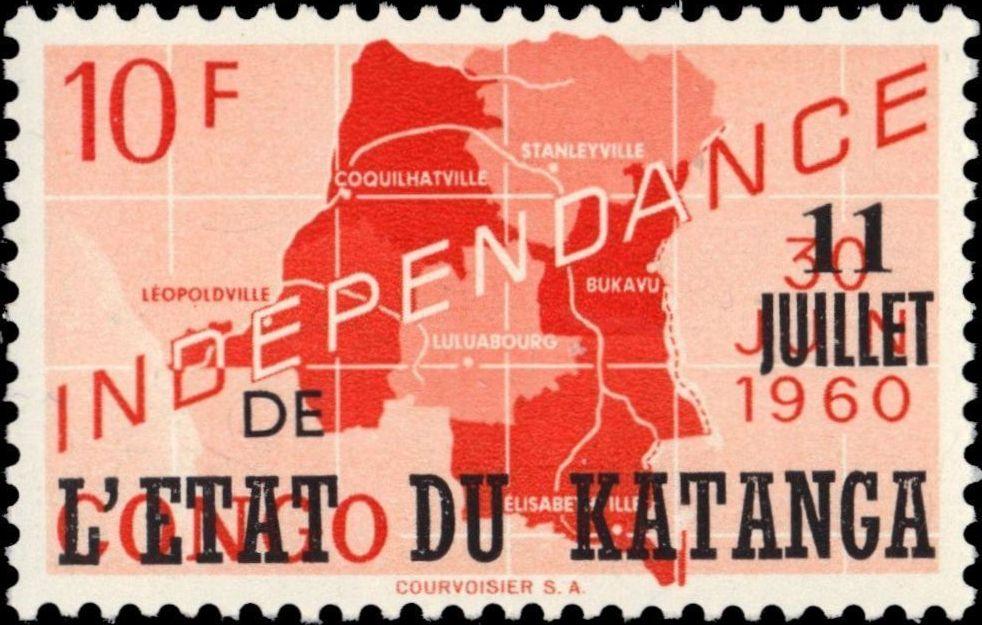 Katanga 1960 Postage Stamps from Congo Overprinted i.jpg