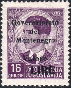 Montenegro 1941 Yugoslavia Stamps Surcharged under Italian Occupation i.jpg