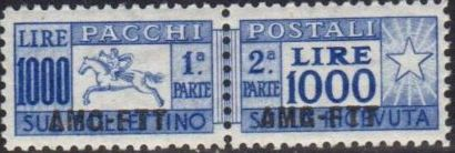 Trieste-Zone A 1954 Parcel Post Stamps of Italy 1946-54 Overprint a.jpg