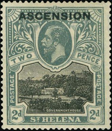 """Ascension 1922 Stamps of St. Helena Overprinted """"ASCENSION"""" da.jpg"""