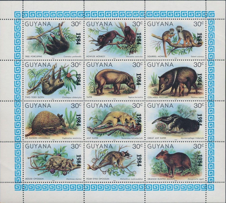 Guyana 1984 Wildlife (Overprinted 1984)