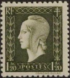 France 1945 Marianne de Dulac (2nd Issue) i.jpg