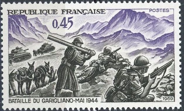 France 1969 25th Anniversary of the Battle of the Garigliano