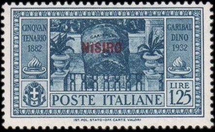 Italy (Aegean Islands)-Nisiro 1932 50th Anniversary of the Death of Giuseppe Garibaldi g.jpg