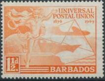 Barbados 1949 75th Anniversary of Universal Postal Union UPU a.jpg