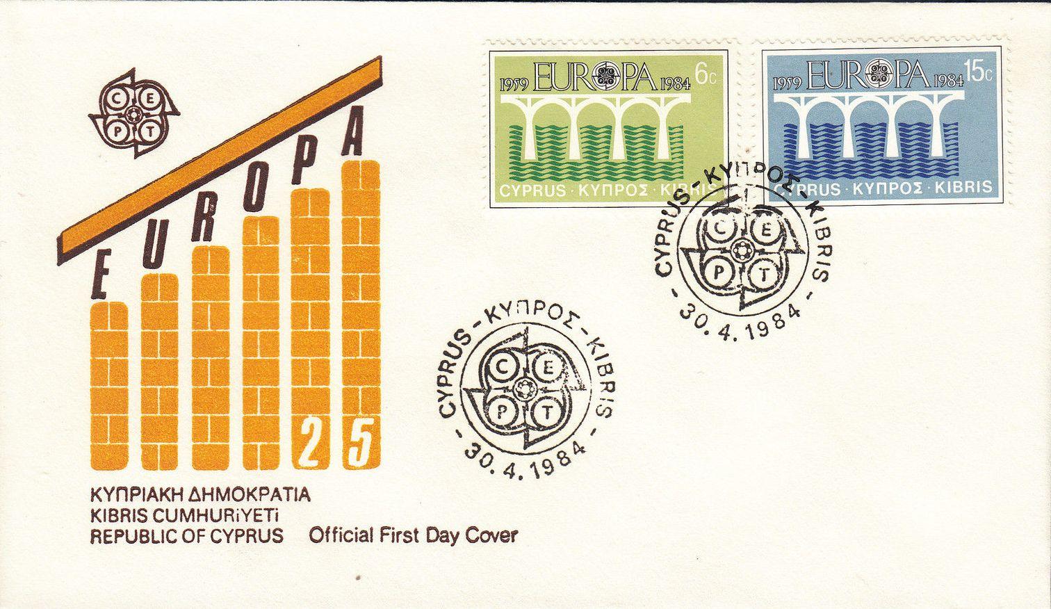 Cyprus 1984 EUROPA - CEPT FDCa.jpg