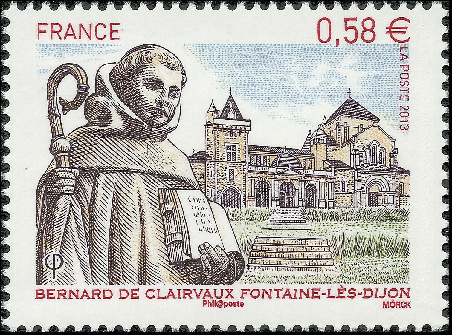 France 2013 Famous People - Bernard de Clairvaux - Fontaine-lès-Dijon