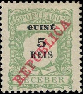 Guinea, Portuguese 1911 Postage Due Stamps