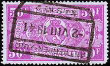 Belgium 1941 Railway Stamps (Numeral in Rectangle IV) x.jpg