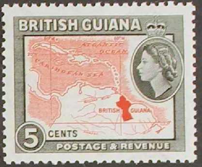British Guiana 1954 Elizabeth II and Local Scenes e.jpg