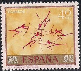 Spain 1967 - Wall Paintings from Paleolithic and Mesolithic Found in Spanish Caves