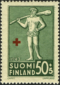 Finland 1943 Coats of Arms - Finnish Red Cross