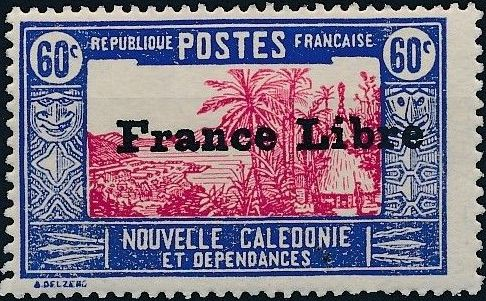"""New Caledonia 1941 Definitives of 1928 Overprinted in black """"France Libre"""" p.jpg"""