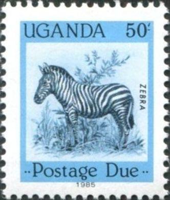Uganda 1985 Wildlife (Postage Due Stamps) e.jpg