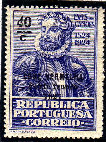 Portugal 1927 Red Cross - 400th Birth Anniversary of Camões