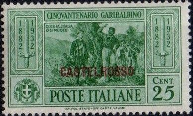 Italy (Aegean Islands)-Castelrosso 1932 50th Anniversary of the Death of Giuseppe Garibaldi c.jpg