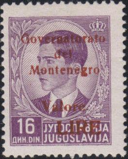 Montenegro 1941 Yugoslavia Stamps Surcharged under Italian Occupation r.jpg