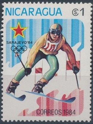 Nicaragua 1984 Winter Olympics - Sarajevo' 84 d.jpg