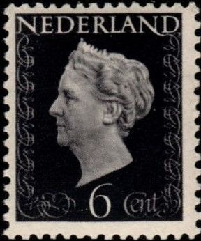 Netherlands 1947 Queen Wilhelmina - Type Hartz
