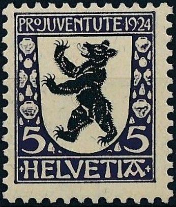 Switzerland 1924 PRO JUVENTUTE - Coat of Arms