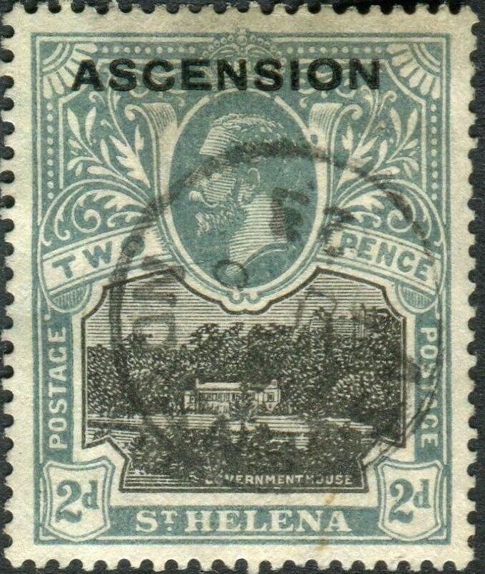 """Ascension 1922 Stamps of St. Helena Overprinted """"ASCENSION"""" db.jpg"""