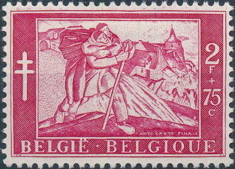 Belgium 1954 Anti-Tuberculosis Work e.jpg